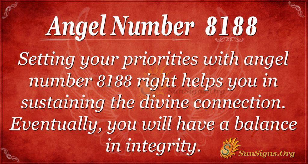 angel number 8188