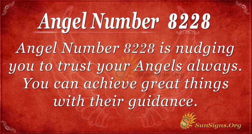 angel number 8228