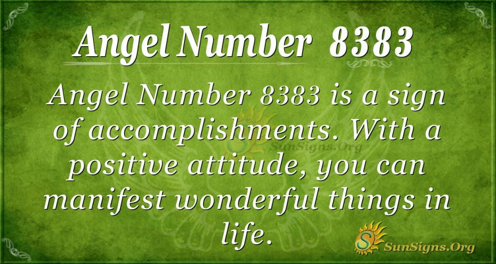 angel number 8383