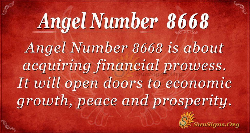 angel number 8668
