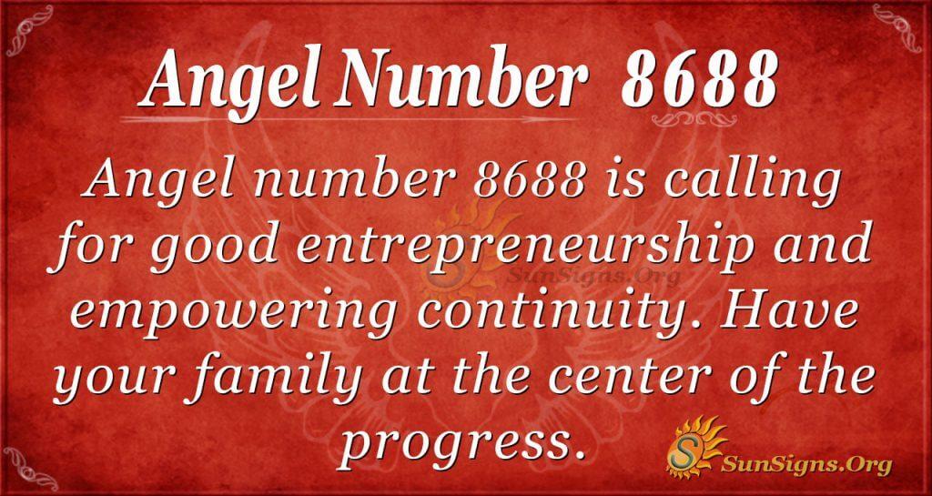 angel number 8688