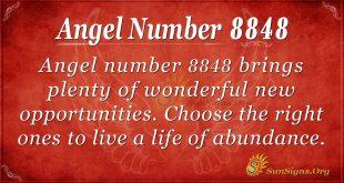 Angel Number 8848