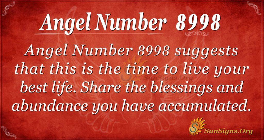 angel number 8998