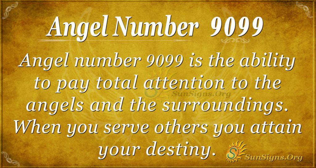 angel number 9099