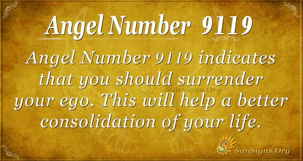 angel number 9119