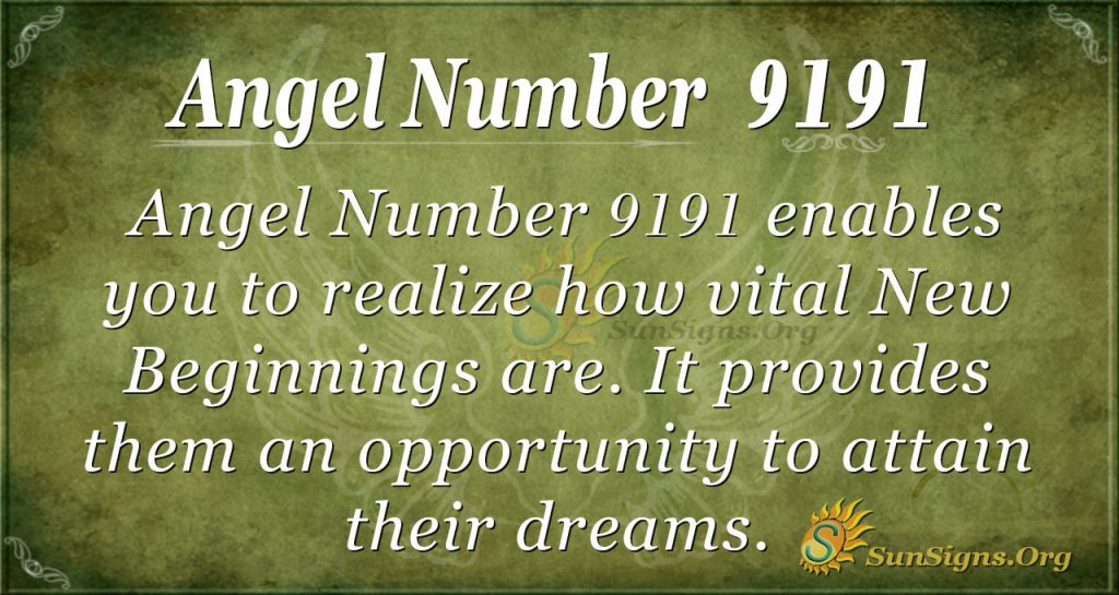 angel number 9191