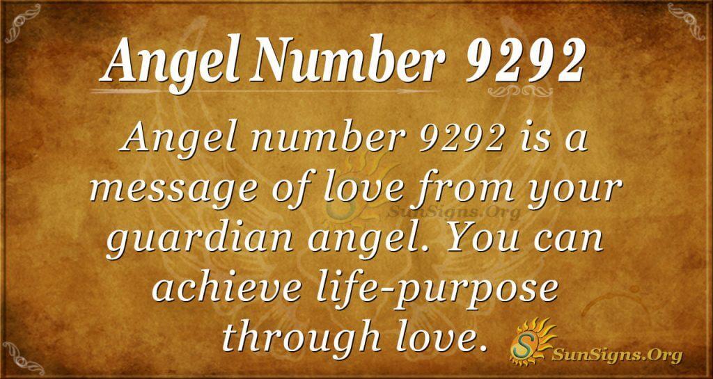 angel number 9292