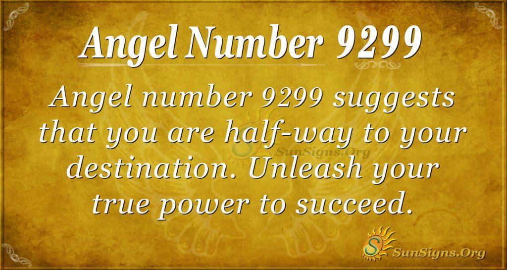 Angel Number 9299