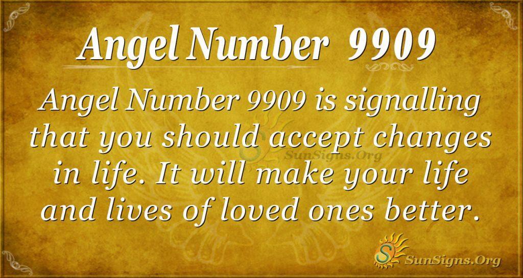 angel number 9909