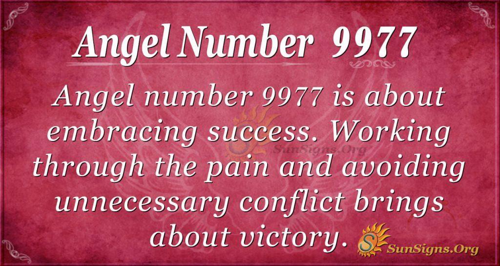 angel number 9977