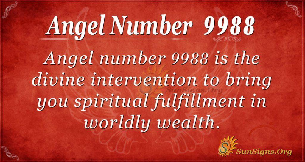 angel number 9988
