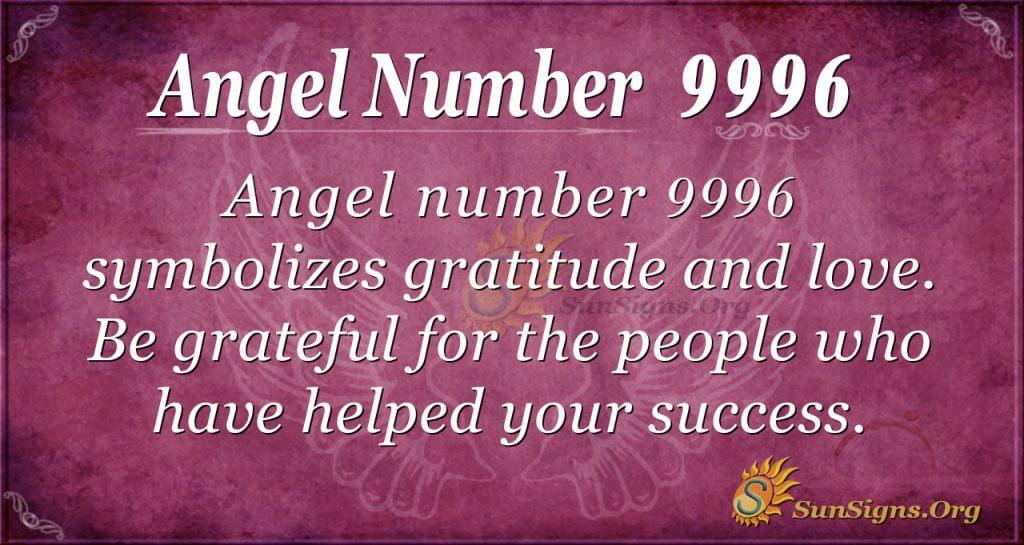 Angel Number 9996