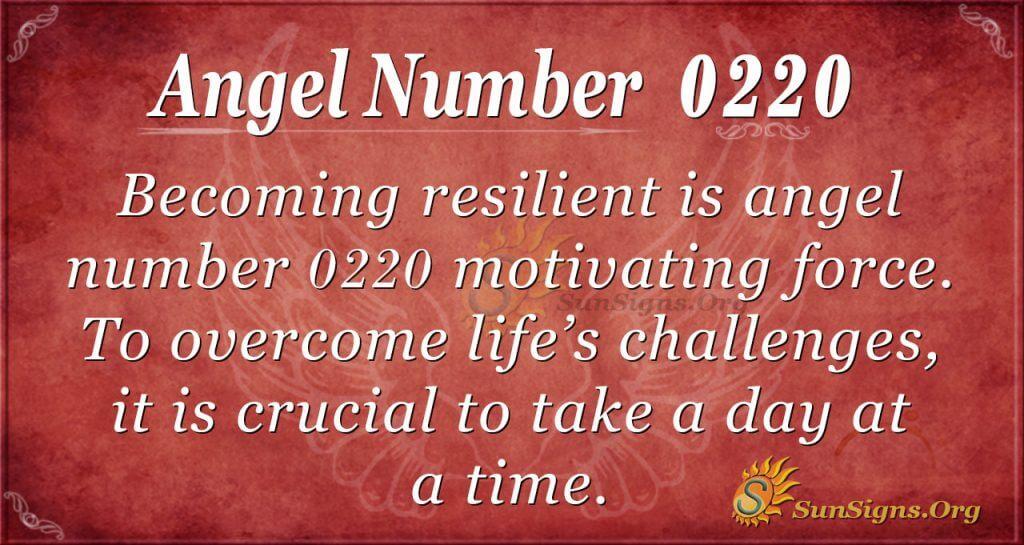 angel number 0220