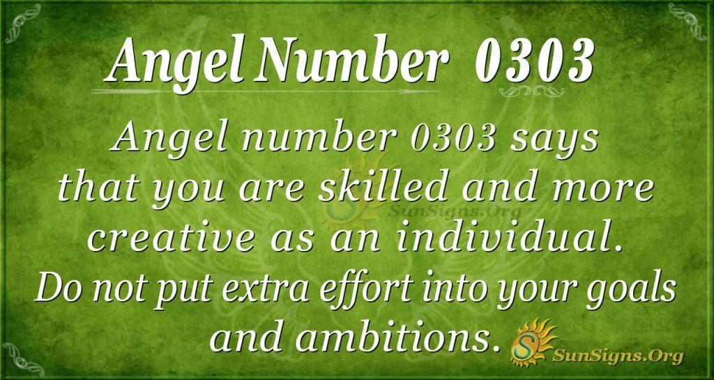 angel number 0303