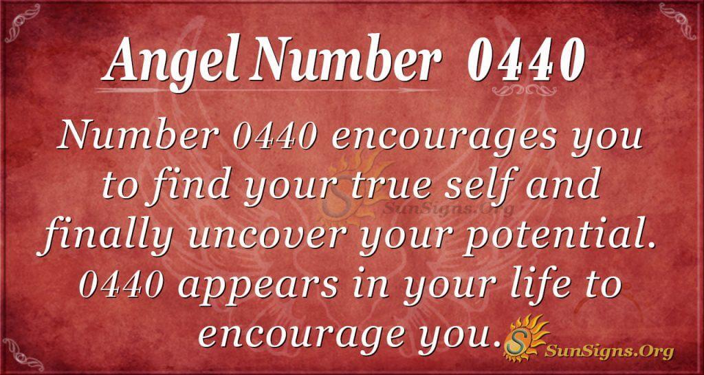 angel number 0440