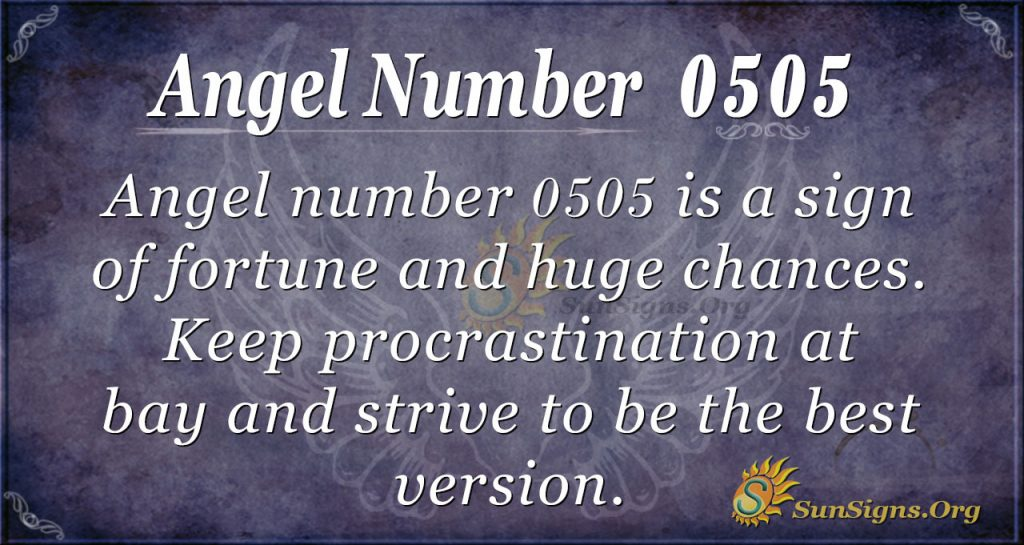 angel number 0505