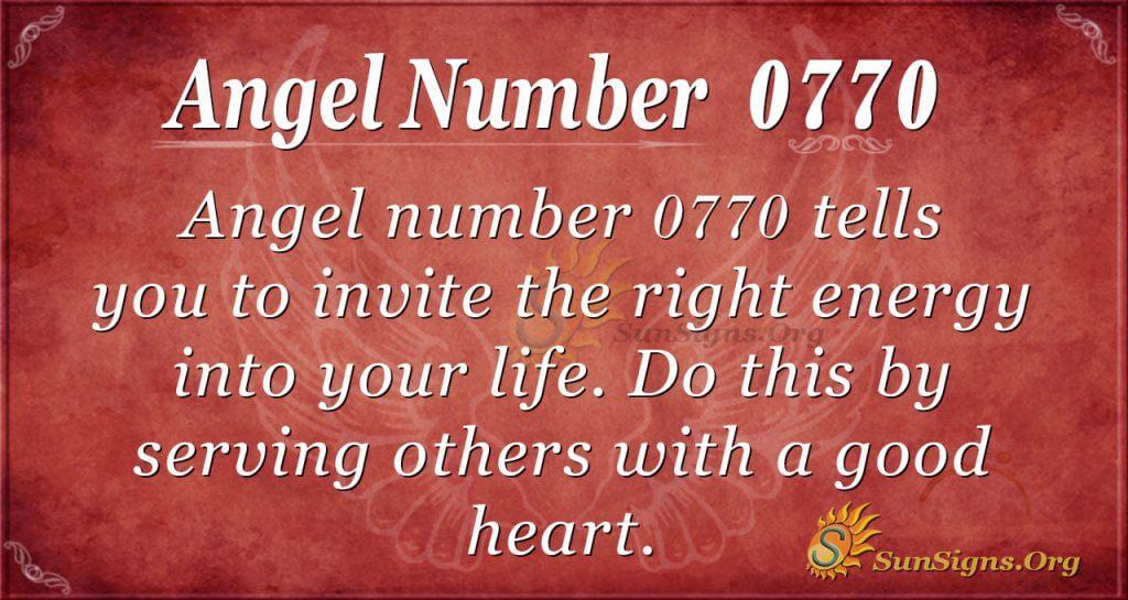 angel number 0770
