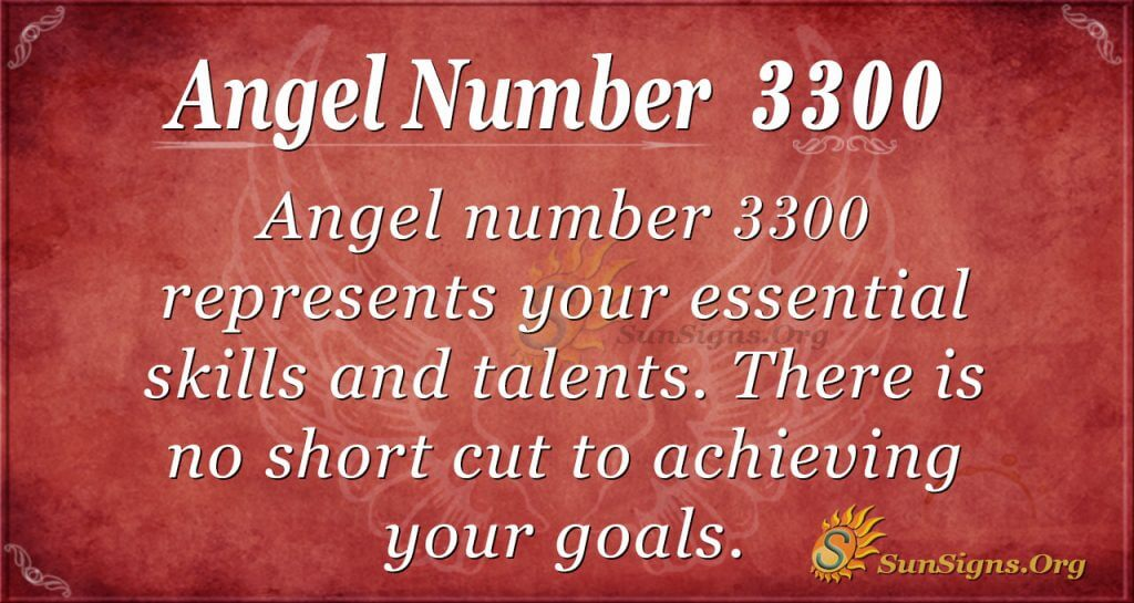 angel number 3300