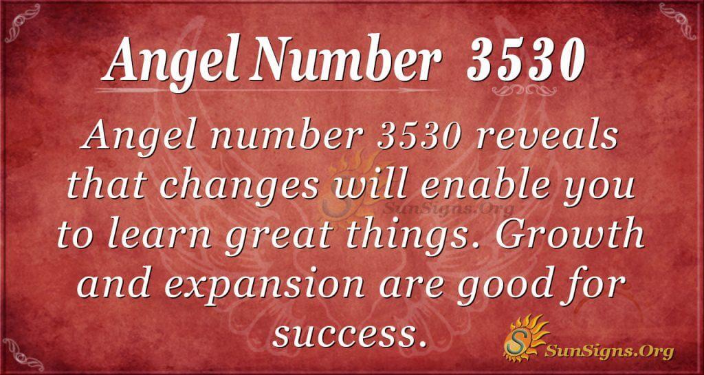 angel number 3530