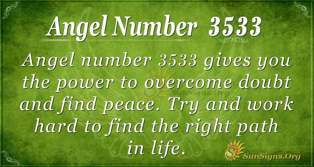 angel number 3533