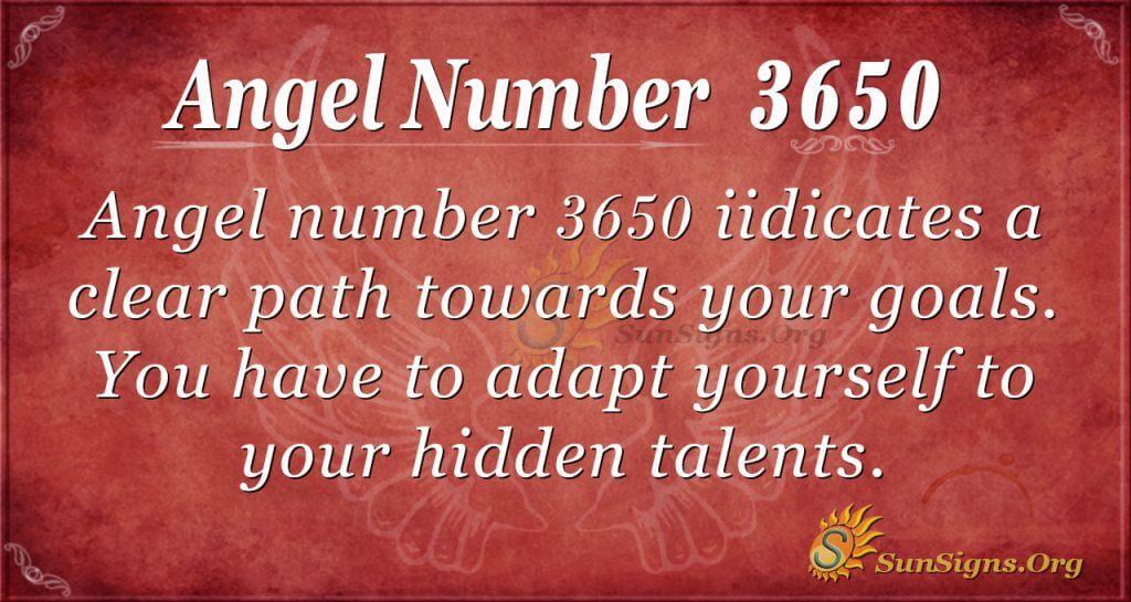 angel number 3650