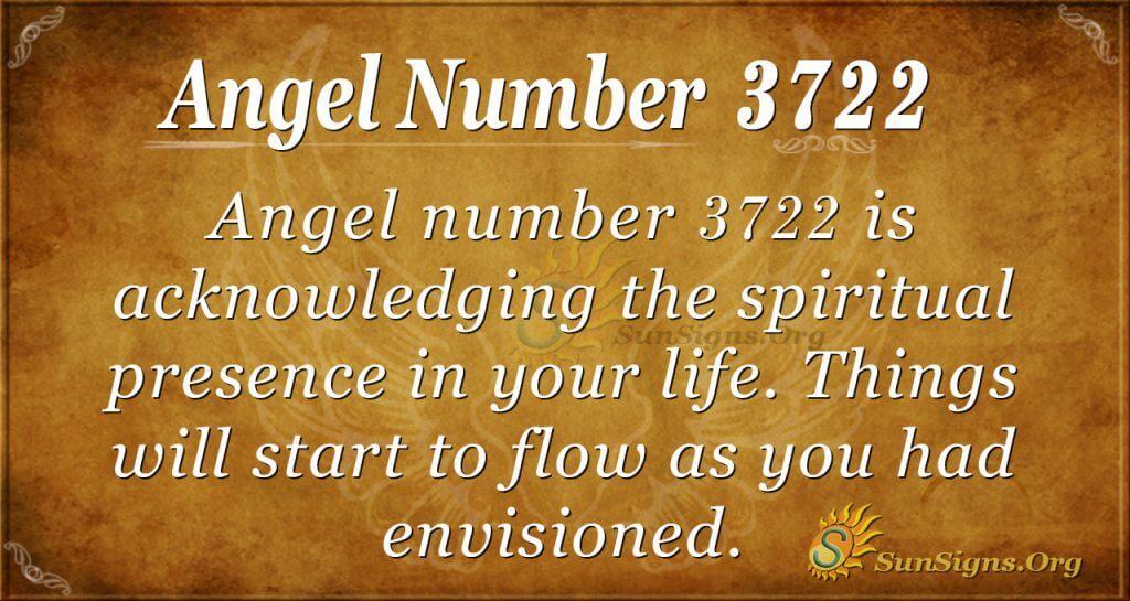 Angel Number 3722