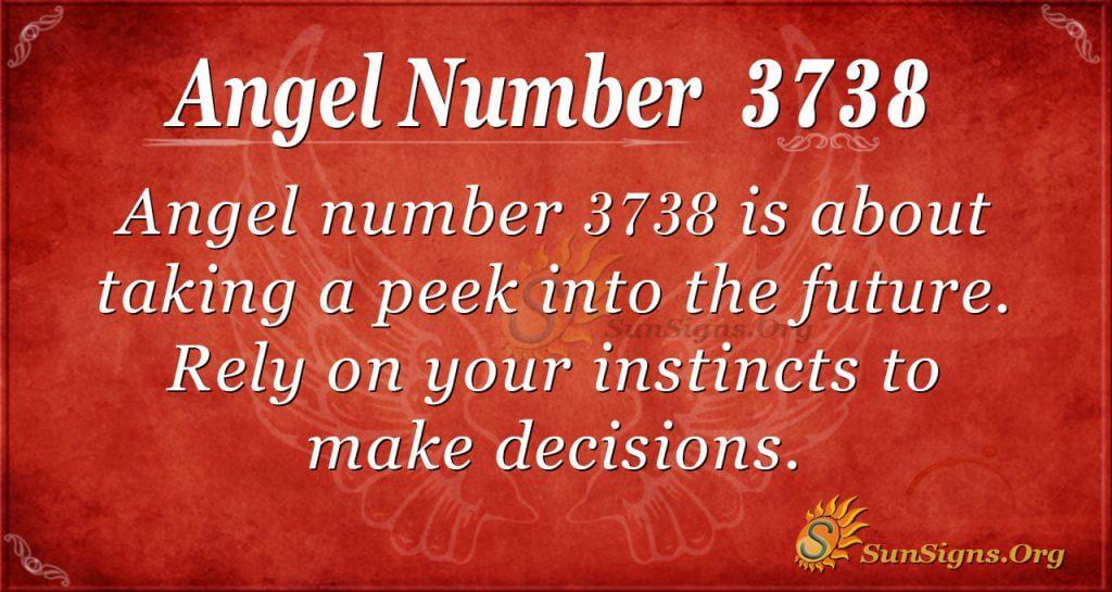 angel number 3738