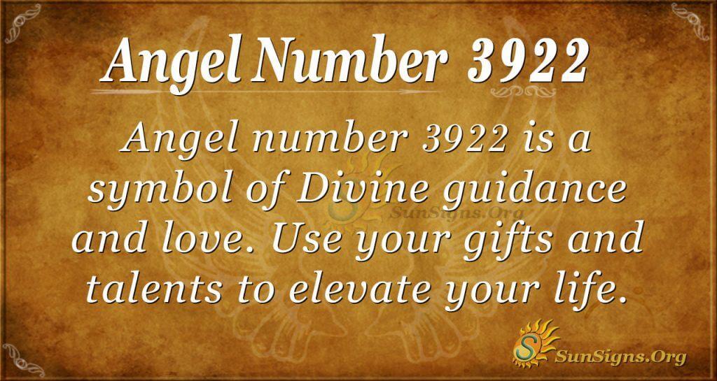 angel number 3922