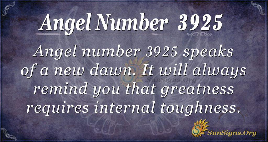 Angel Number 3925