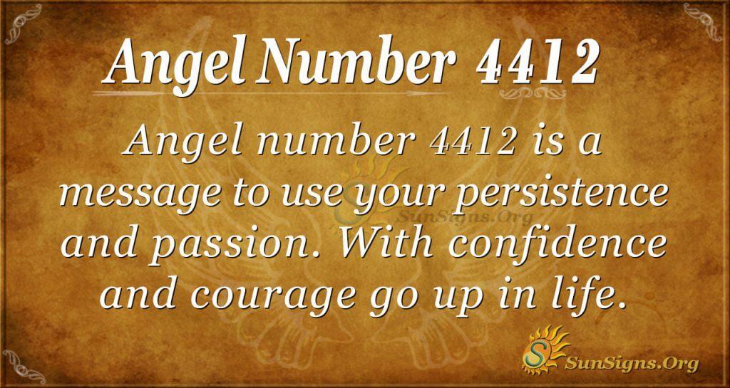 Angel Number 4412