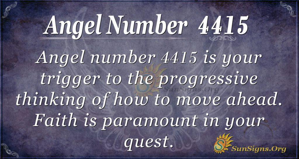 angel number 4415