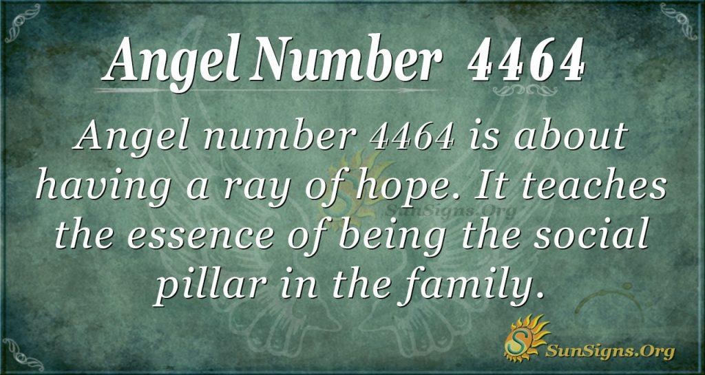 Angel Number 4464