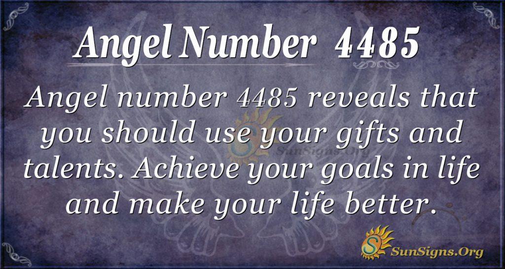 angel number 4485