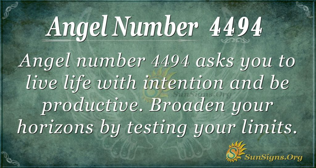 Angel Number 4494