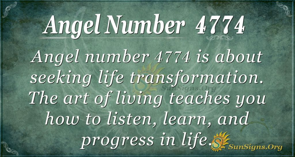 Angel Number 4774