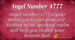Angel Number 4777