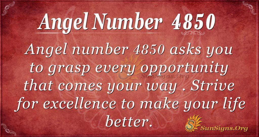 angel number 4850