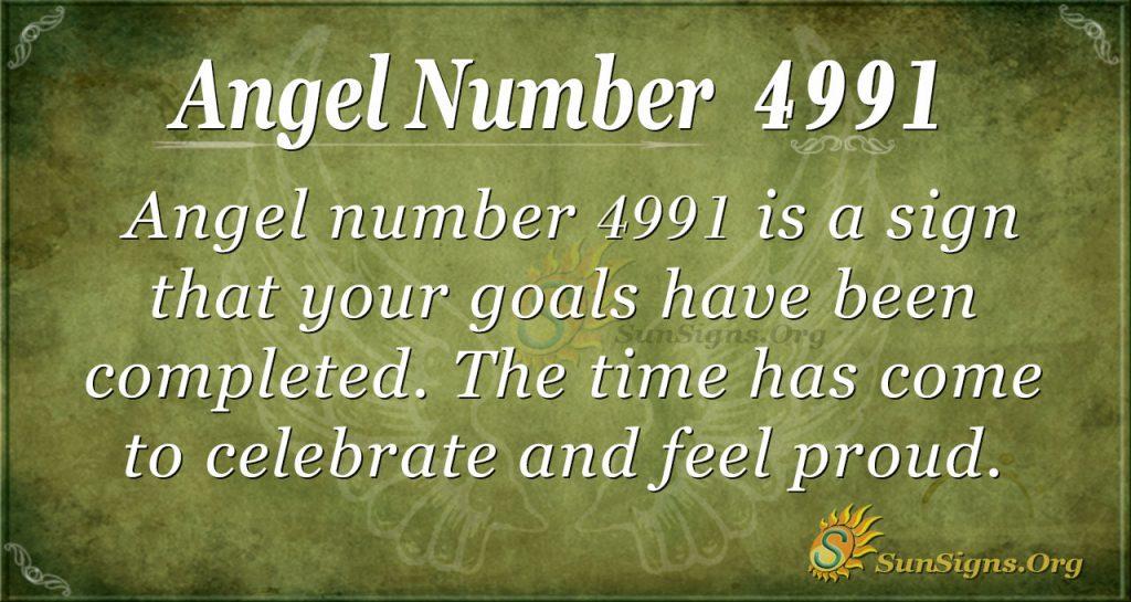 Angel Number 4991