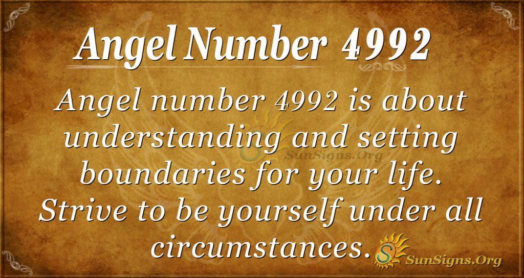 angel number 4992