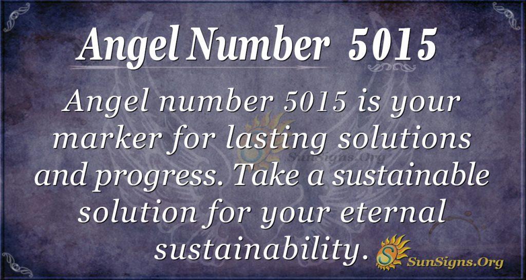 Angel Number 5015