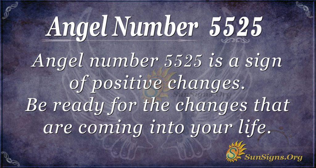 Angel Number 5525