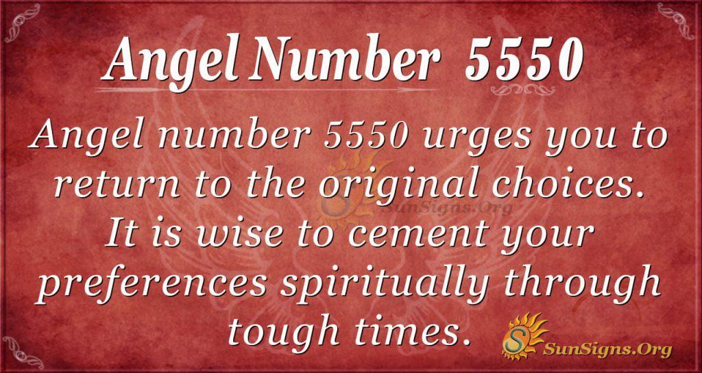 Angel Number 5550