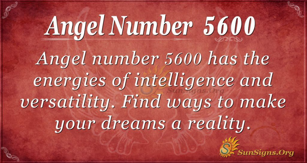 angel number 5600