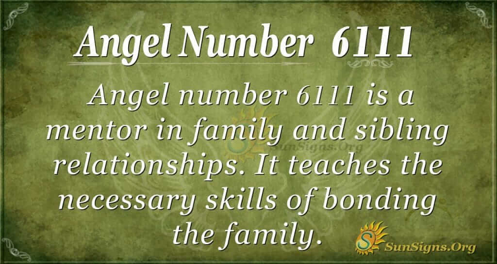 angel number 6111