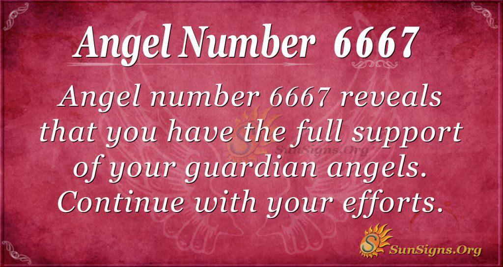 angel number 6667