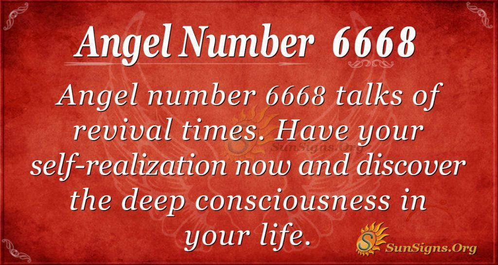 angel number 6668