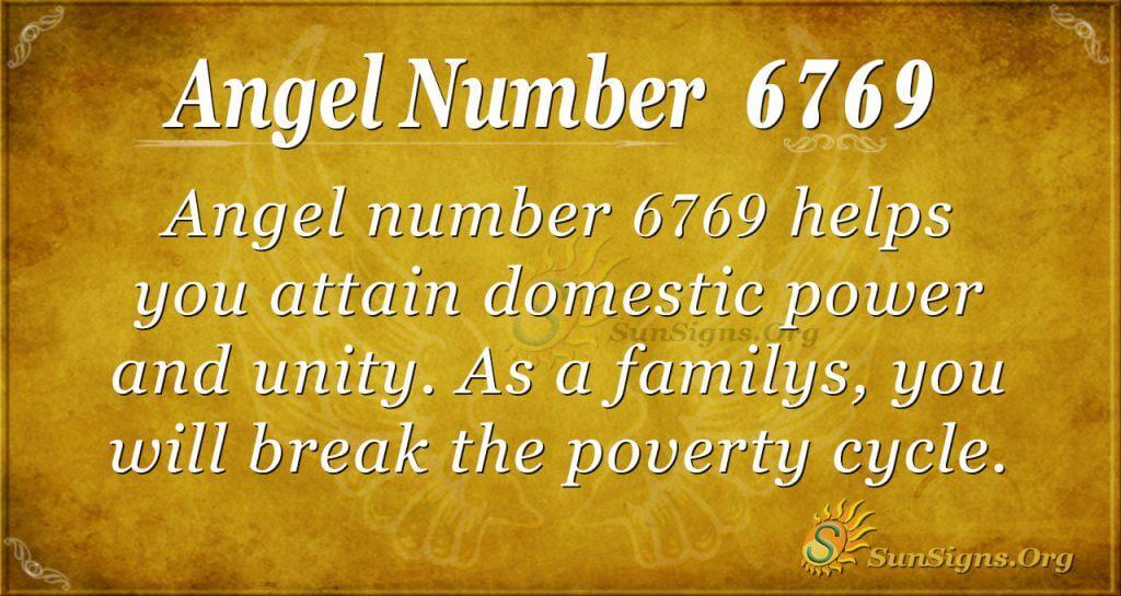 angel number 6769