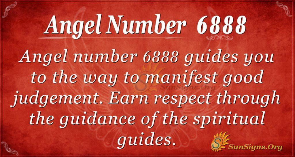 Angel Number 6888