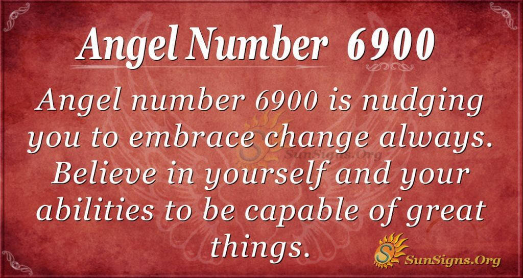 Angel Number 6900