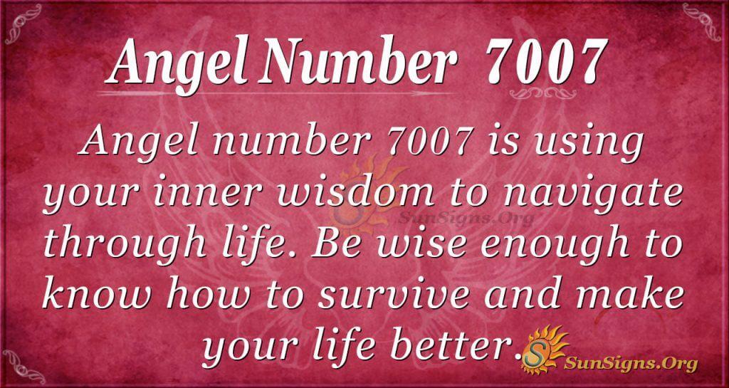Angel Number 7007